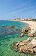 Strand im Urlaubsort Platja d`Aro an der Costa Brava