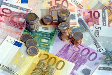 Geld, Münzen, Banknoten, Geldscheine, Euro, Finanzen