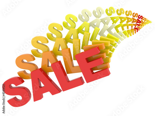 Sale multicolored 3D sign