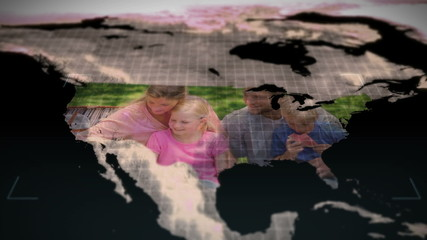 Vidoes of families in America with an earth image