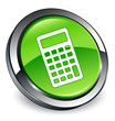 Calculator icon 3D green button