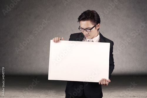 Businessman with copy space