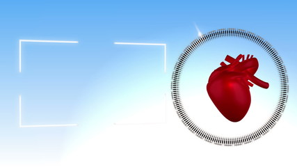 Video of a heart beating against sky background