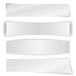 Set of blank paper banners isolated on white.