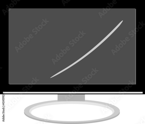 Realistic  LCD  computer monitor Isolated on white background