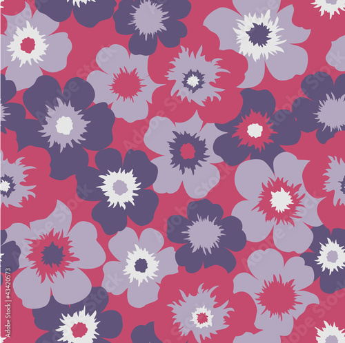 seamless red floral  background