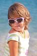 Little girl oh the beach