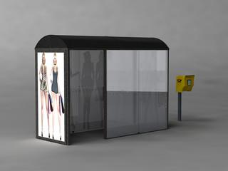 Bushaltestelle, Briefkasten