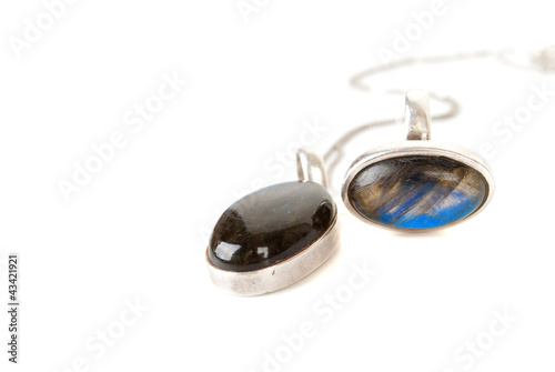 pendant with a blue gemstone