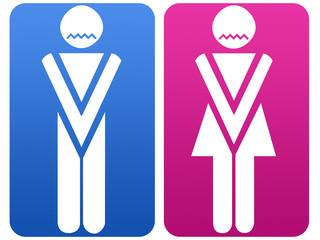 WC symbol - man and woman