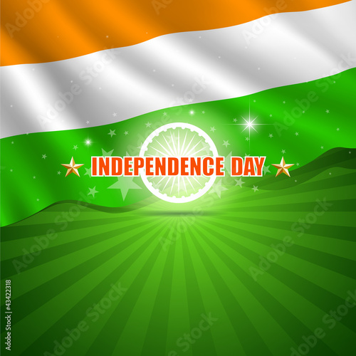 Happy Independence Day India background, vector