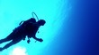 diver from below   blue 1080p