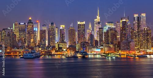 Panel Szklany Manhattan at night