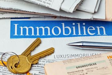 Immobilien Inserat in Zeitung