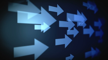 Video of multiple blue arrows