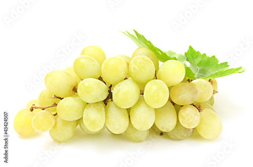 ripe sweet grapes isolated on white