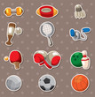 Sport objects stickers