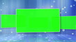 Videos of a chroma key screen