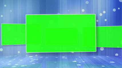Videos of a chroma key screen