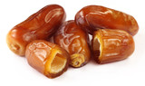 Fresh Arabian Dates over white background