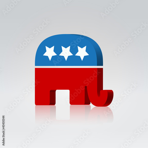 Elephant symbol american vote campaign