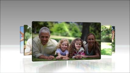 Video of joyful family in a park