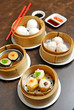 Chinese steamed dimsum in bamboo