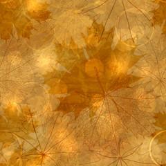 Seamless pattern - Autumnal leaves, vector illustration, eps-10