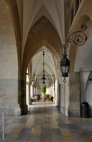 Arcades of Sukiennice in Krakow, Poland © kilhan