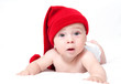 Cute newborn baby in a hat