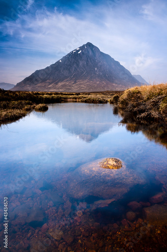 Scottish highlands landscape mountain and river