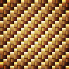 Seamless golden webbed vector square texture.