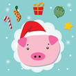 piggy christmas celebration