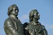 Goethe, Schiller, Denkmal vor dem Nationaltheater, Weimar