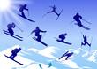Skier, vector file