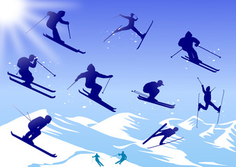 Skier, vector file
