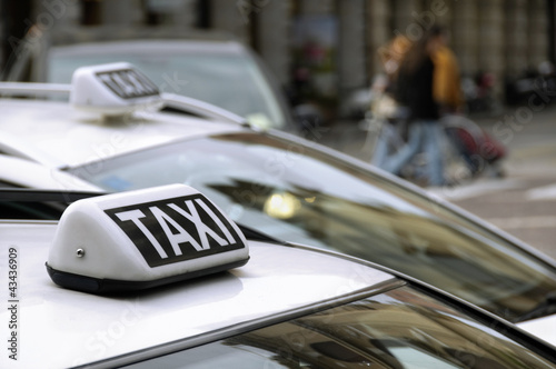 Taxi car roof detail
