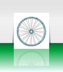 Bike wheel - vector illustration