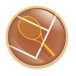 Tennisschläger Button