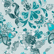 Set of vector retro floral seamless patterns.