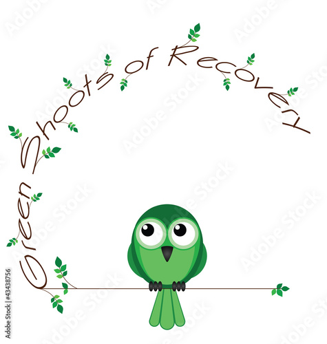 Green shoots of recovery twig text