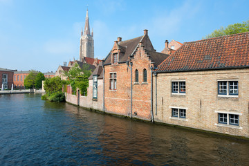 Wonderful view on a channel in Brugge