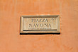Piazza Navona, stadio di Domiziano - targa