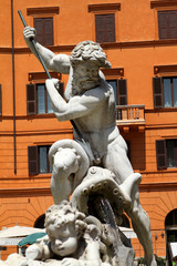 Fontana del Nettuno, Piazza Navona, Roma III
