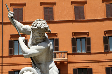 Fontana del Nettuno, Piazza Navona, Roma IV