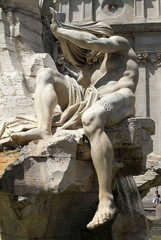 Fontana dei 4 Fiumi, Roma - il Nilo I