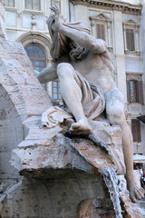 Fontana dei 4 Fiumi, Roma - il Nilo III