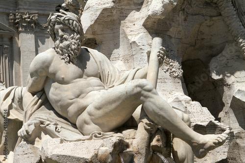 Fontana dei 4 Fiumi, Roma - il Gange