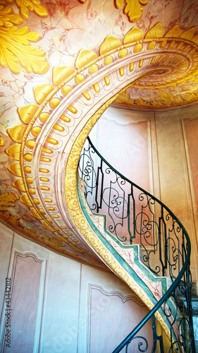 Imperial Stairs Melk Abbey, Austria
