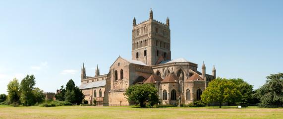 Historic Tewkesbury Abbey, Gloucestershire, Severn Vale, UK